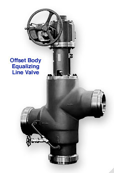 Figure 8508-MO Three-Way Bypass Valve offset body equalizing line valve